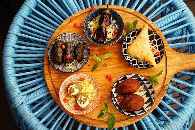 Carat Fine Indian and Mediterranean Cuisine food mezz hot platter