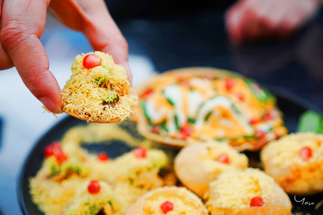 Carat Fine Indian and Mediterranean Cuisine food old delhi chaat platter snack
