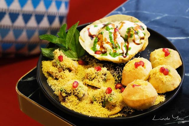 Carat Fine Indian and Mediterranean Cuisine food old delhi chaat platter Indian snacks